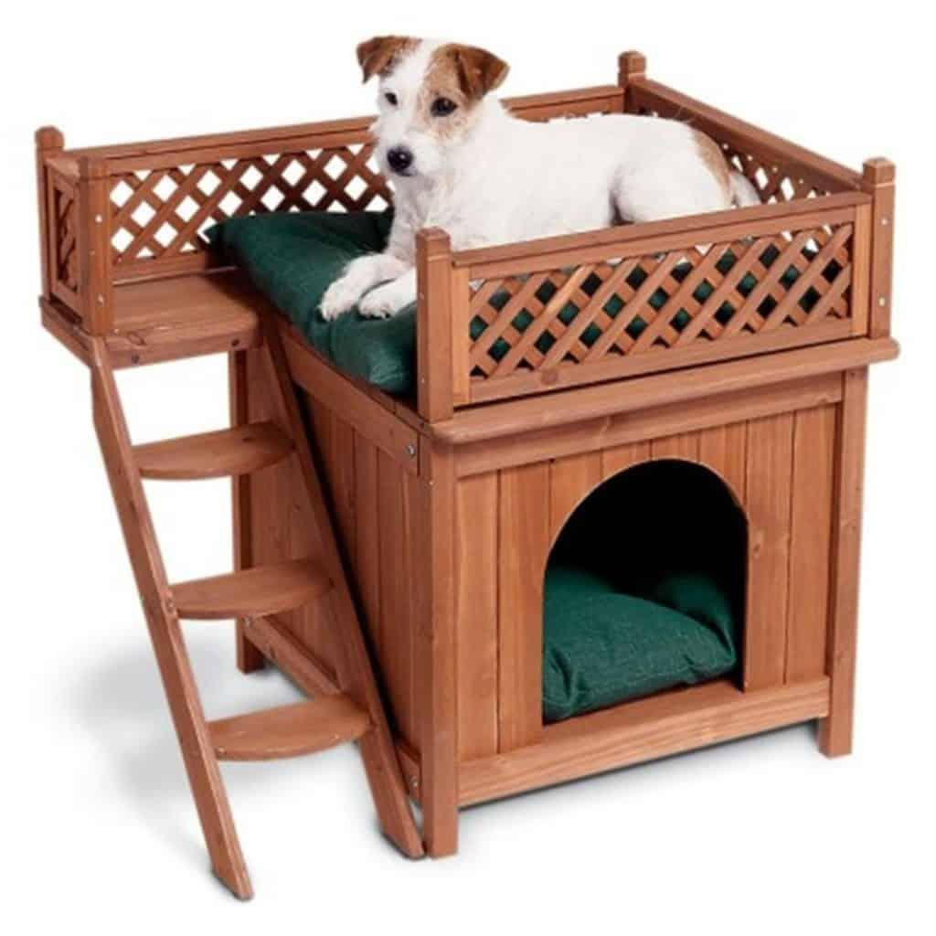 Casa para perro barata de dos pisos