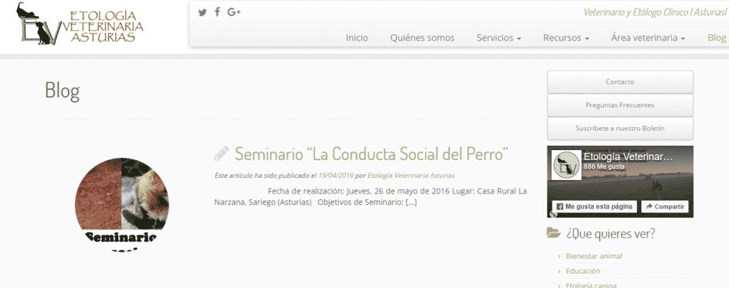 Etología veterinaria Asturias blog